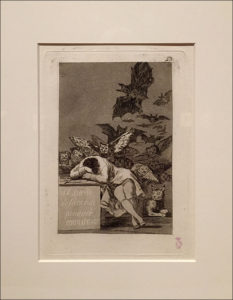 The Dream of Reason Produces Monsters, Etching & Aquatint
