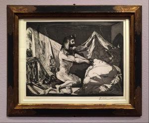 Satyr and Sleeping Woman, 1936, Aquatint