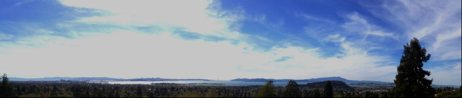 view of the bay from the Berkeley Hills